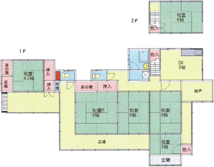 コワーキングスペースのフロアマップ